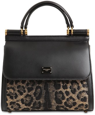 Dolce & Gabbana SICILY 58 LEO JACQUARD TOP HANDLE BAG