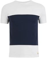 Armor Lux Panelled Tshirt - Milk/navy