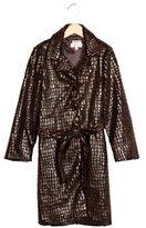 Helena Girls' Textured Long Coat