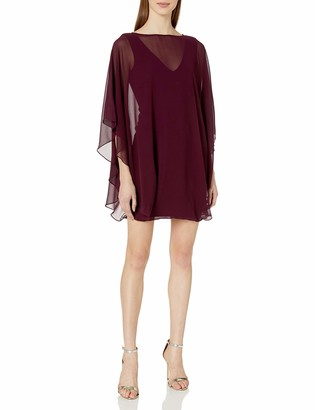Halston Women's Shift Cocktail Dress with Flowy Sleeves