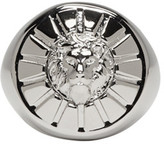 Versus Silver Round Lion Head Ring