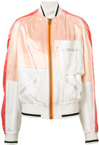 Haider Ackermann patched satin bomber jacket