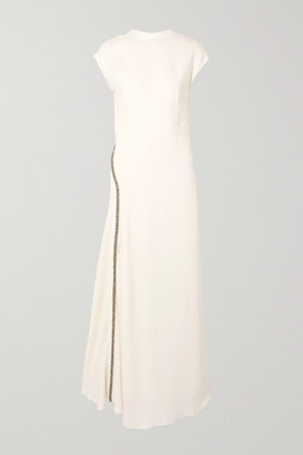 3.1 Phillip Lim Crystal-embellished Stretch-crepe Gown - White