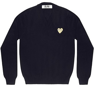Comme des Garcons Play V-Neck Heart Sweatshirt