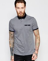 Ted Baker Polo Shirt With All Over Geo Print