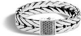 John Hardy Men's Modern Chain 16MM Bracelet in Sterling Silver with Black Sapphire