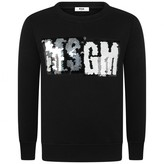 MSGM MSGMGirls Black Sequin Logo Sweater