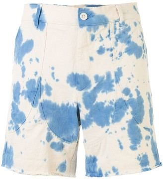 The Elder Statesman Tie-Dye High Rise Shorts