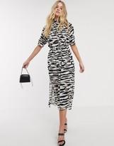 AllSaints xena zebra print maxi dress