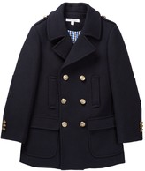 Isaac Mizrahi Wool Blend Double Breasted Peacoat (Toddler, Little Boys, & Big Boys)