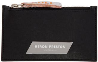 Heron Preston Black Zip Card Holder
