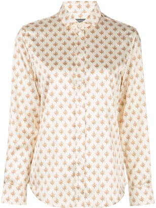 ALEXACHUNG Floral Long-Sleeve Shirt