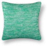 Threshold Green Marled Knit Throw Pillow