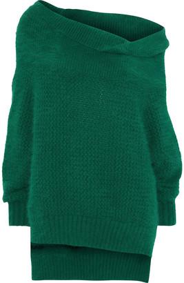 Roland Mouret Jennings Embellished Angora-blend Sweater
