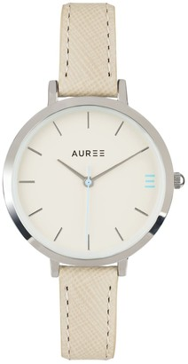 Auree Jewellery Montmartre Sterling Silver Watch With Almond & Pale Blue Strap