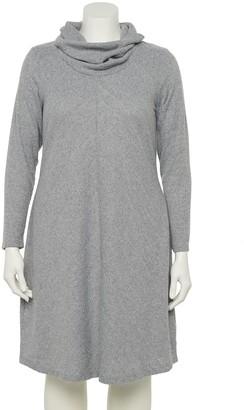 Plus Size EVRI Cowlneck Sweater Dress