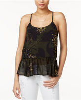 Bar III Printed T-Back Camisole, Only at Macy's