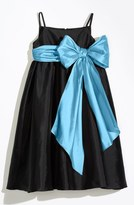 Us Angels Sleeveless Empire Waist Taffeta Dress (Toddler, Little Girls & Big Girls)