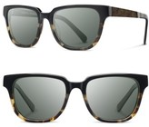 Shwood Women's 'Prescott' 52Mm Polarized Acetate & Wood Sunglasses - Black Olive/ Elm/ G15 Polar
