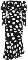 Dolce & Gabbana Polka-dot stretch silk dress