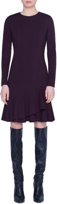 Akris Punto Long-Sleeve Wrapped Skirt Jersey Dress