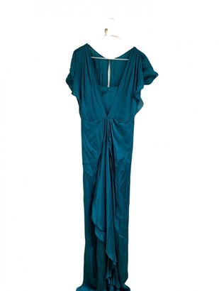 Temperley London Turquoise Silk Dresses