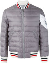 Moncler Gamme Bleu padded bomber jacket - men - Feather Down/Nylon/Cupro/Polyimide - 1