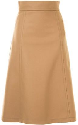 Carolina Herrera knitted A-line skirt