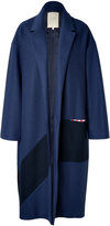 Roksanda Larkin Wool Coat in Navy