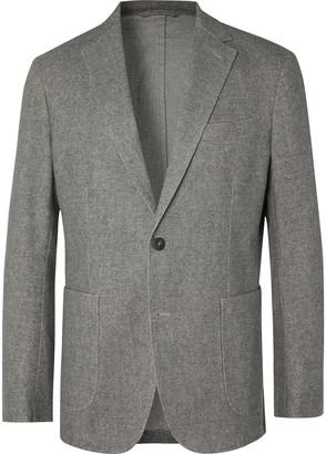 NN07 Harvey Unstructured Cotton-Blend Flannel Blazer