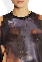 Givenchy Shark Tooth necklace in rose gold-tone and gunmetal-tone brass