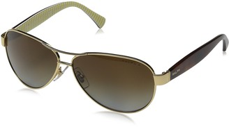 Lauren By Ralph Lauren Ralph by Ralph Lauren Women's RA4096 Aviator Steel Sunglasses