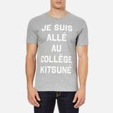 MAISON KITSUNÉ Men's Je Suis Alle TShirt - Grey Melange