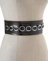 White House Black Market Patent Link-Front Stretch Belt