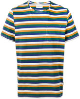Oliver Spencer triple stripe T-shirt - men - Cotton - S