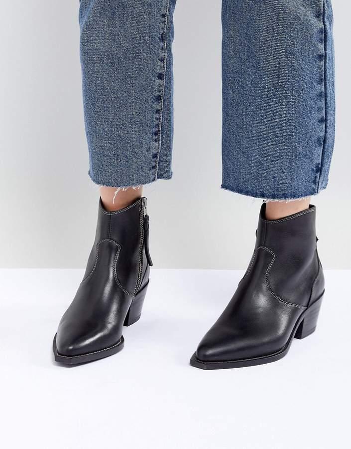 AllSaints Stitch Detail Western Boot