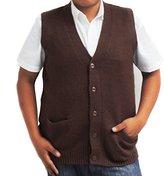 CELITAS DESIGN Vest alpaca and blend V neck buttons made in Peru XL