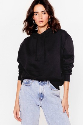 Nasty Gal Womens Getting Warmed Up Petite Oversized Hoodie - Black - S