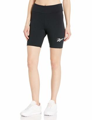 Reebok Classics Women's CL V Logo Bike Shorts Black L/G