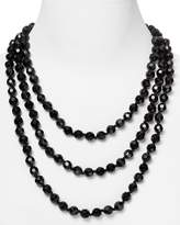 Carolee Black Faceted Bead Rope Necklace, 72