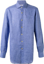 Kiton fine check shirt - men - Linen/Flax - 38