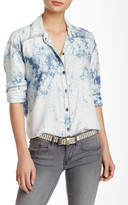 Michael Stars Hi-Lo Button-Up Blouse
