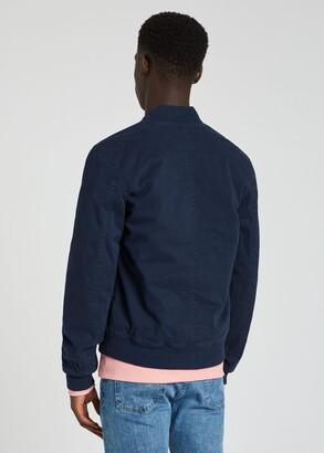 Paul Smith Men's Navy Garment-Dyed Stretch-Cotton Bomber Jacket