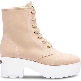 Miu Miu Lace-Up Ankle Platform Boots