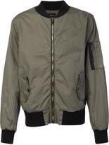 Hudson zipped bomber jacket