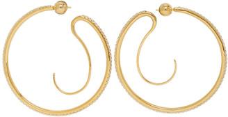 Panconesi Gold Crystal Upside-Down Hoops