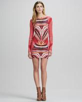 Mara Hoffman Scoop-Back Long-Sleeve Minidress