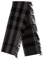 Burberry Plaid Print Scarf