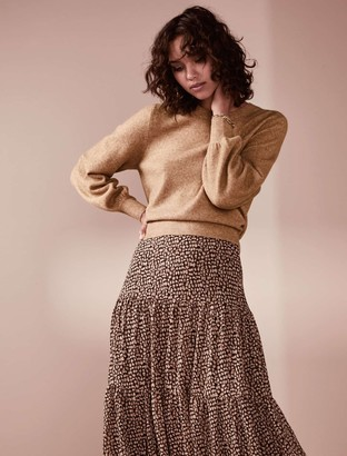 Forever New Elissa Blouson Sleeve Wool-Blend Jumper - Camel - l