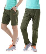 HYSENM Women Breathable Zip-Off Convertible Cargo Pants Trousers Shorts Sports Outdoor Camping Hiking Climbing Walking